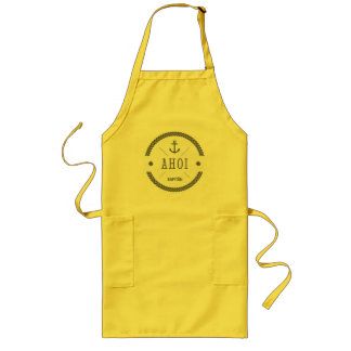Ahoi Captain Badge with anchor Long Apron