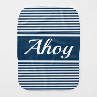 Ahoy Burp Cloth