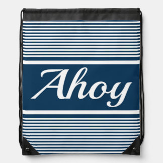 Ahoy Drawstring Bag