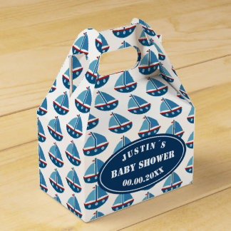 Ahoy It´s a boy! nautical baby shower party Favour Box