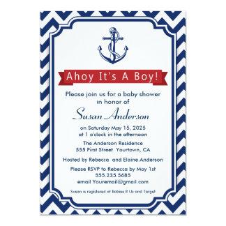 Ahoy! It's a Boy! Baby Shower Invitation