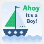 Ahoy Its a Boy Baby Shower Sticker
