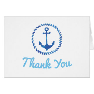 Ahoy It's a Boy Baby Shower Thank You Card