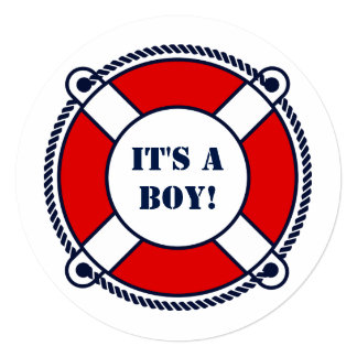 Ahoy it's a boy nautical baby shower party invites