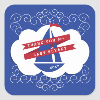 Ahoy It's A Boy Nautical Baby Shower Stickers