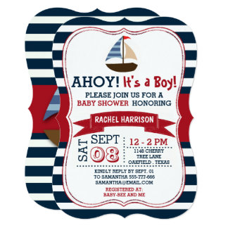 Perfect Nautical Boat Baby Shower Invites