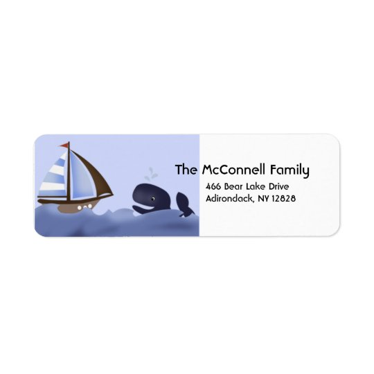 AHOY MATE BLUE WHALE PRINTABLE ADDRESS LABELS