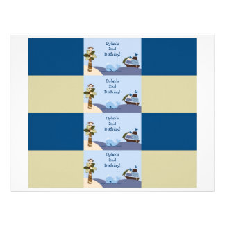 Ahoy Mate Nautical Water Bottle Labels 21.5 Cm X 28 Cm Flyer