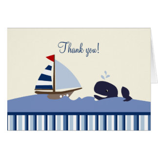 Ahoy Mate Whale (Blue) Thank you Notes