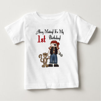 Ahoy Matey Pirate 1st Birthday Baby T-Shirt