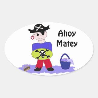 Ahoy Matey Stickers