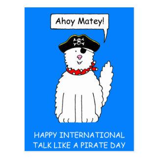 Ahoy Matey Talk like a Pirate Day Postcard