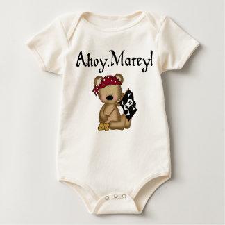 Ahoy Matey Teddy Bear Pirate Organic Creeper