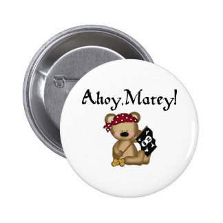 Ahoy Matey Teddy Bear Pirate Pin Pin