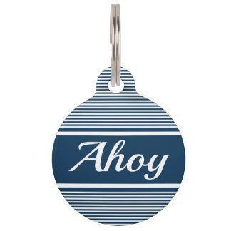 Ahoy Pet Tag