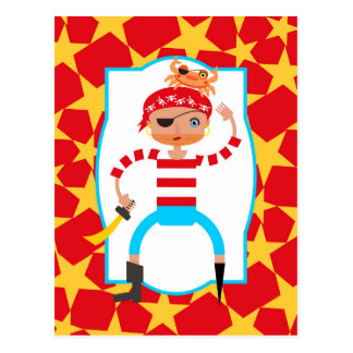 Ahoy Pirate kids Birthday Party Postcard