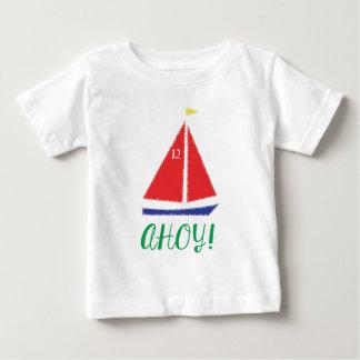 Ahoy! Sailboat design Baby T-Shirt