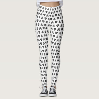 ahoy shipmates, funky Pirate heart mono leggings