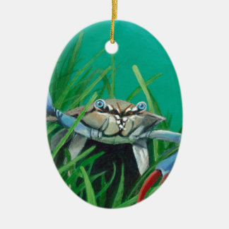 Ahoy There Meet The Under Water Sea Crab Ceramic Ornament