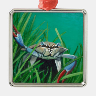 Ahoy There Meet The Under Water Sea Crab Metal Ornament