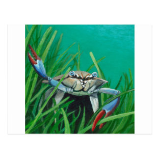 Ahoy There Meet The Under Water Sea Crab Postcard