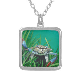 Ahoy There Meet The Under Water Sea Crab Silver Plated Necklace