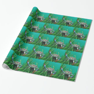 Ahoy There Meet The Under Water Sea Crab Wrapping Paper