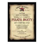 """Ahoy Treasure Map Pirate Birthday Party Invitation 5"""" X 7"""" Invitation Card"""