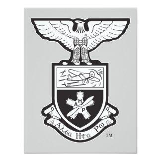 AHP Crest - B&W 11 Cm X 14 Cm Invitation Card