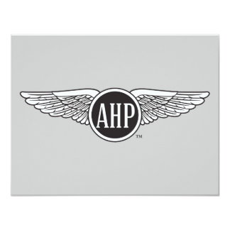 AHP Wings - B&W 11 Cm X 14 Cm Invitation Card