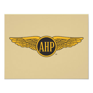 AHP Wings - Color 11 Cm X 14 Cm Invitation Card