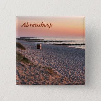 Ahrenshoop beach sunset 15 cm square badge