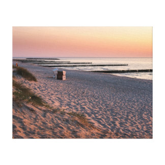 Ahrenshoop beach sunset canvas print
