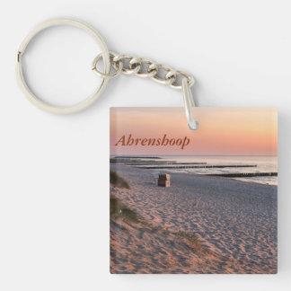 Ahrenshoop beach sunset key ring