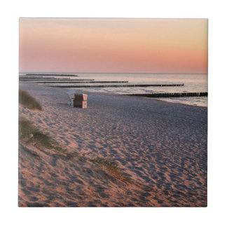 Ahrenshoop beach sunset tile