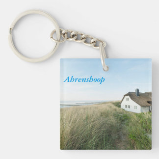 Ahrenshoop Single-Sided Square Acrylic Key Ring