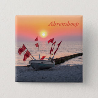 Ahrenshoop sunset 15 cm square badge