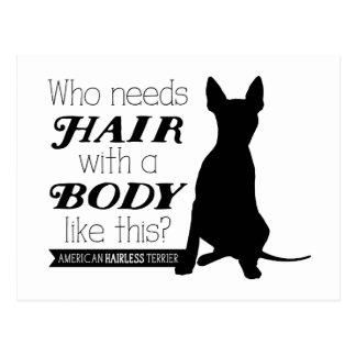 "AHT ""Who needs hair?"" Postcard"