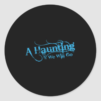 AHWWG Blue Logo Black Background(1 Inch Logo) Round Sticker