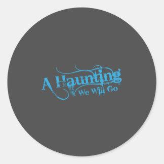 AHWWG Blue Logo Gray Background(1 Inch Logo) Classic Round Sticker