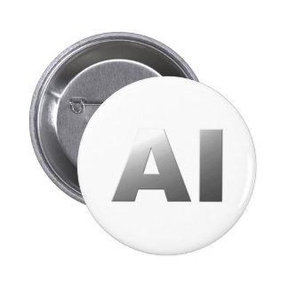 AI artificial intelligence Button