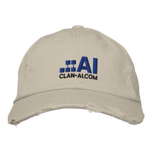 .::AI, CLAN-AI.COM EMBROIDERED BASEBALL CAP