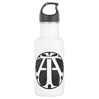 AI Coin Monogram in Gothic Letters 532 Ml Water Bottle