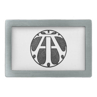 AI Coin Monogram in Gothic Letters Belt Buckles