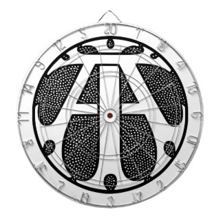 AI Coin Monogram in Gothic Letters Dart Boards