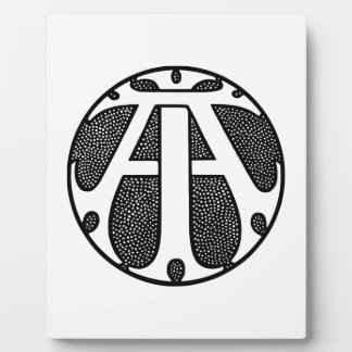 AI Coin Monogram in Gothic Letters Display Plaques