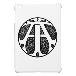 AI Coin Monogram in Gothic Letters iPad Mini Cover