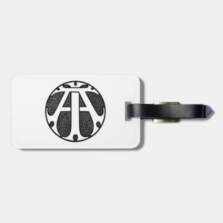 AI Coin Monogram in Gothic Letters Tag For Bags
