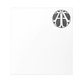 AI Coin Monogram in Gothic Letters Memo Pad