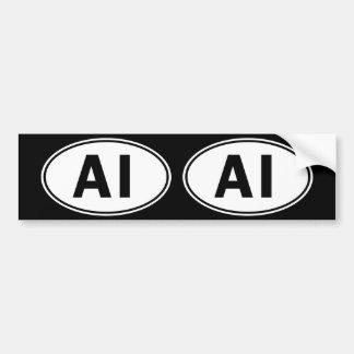 AI Oval ID Bumper Sticker
